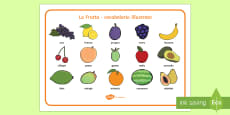 La Frutta Vocabolario Illustrato