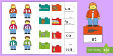 Phase 3 Toy Figures Phonics Matching Game