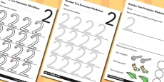 0-20 Number Formation Worksheets