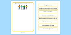 Why Is Friendship Important? Worksheet