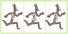 Numbers 0-20 to Support Teaching on Stick Man