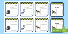 بطاقات ضباط شرطة لنشاط لعب الأدوار