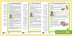 * NEW * The Tortoise and the Hare Differentiated Reading Comprehension Activity
