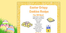 Easter Crispy Cookies Recipe