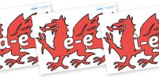 Modifying E Letters on Welsh Dragons