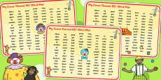 Circus Themed KS1 Word Mat