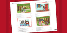 Little Red Riding Hood Storyboard Template