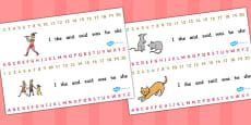The Pied Piper Combined Number and Alphabet Strips