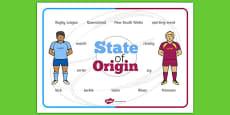 State of Origin Word Mat