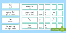 Maths Vocabulary Word Cards Te Reo Māori / English