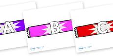 A-Z Alphabet on Candy Bars
