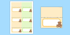 Baby Shower Editable Food Labels