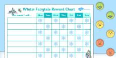 Winter Fairytale Reward Sticker Chart