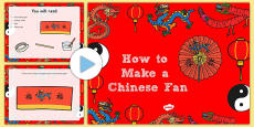 How to Make a Chinese Fan Craft PowerPoint
