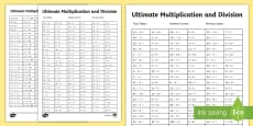 * NEW * Ultimate Multiplication and Division Activity Sheet