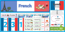 French Language Basics Resource Pack