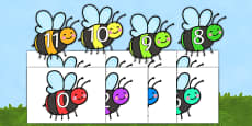0-20 On Colourful Bees