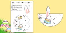 Cutting Skills Easter Bunny Gaeilge