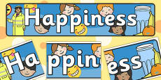 Happiness Themed Banner