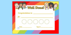 Ourselves Sticker Reward Certificate (30mm)