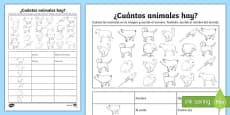 How Many Animals Are There Activity Sheet Spanish