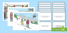 * NEW * Winter Scenes and Question Cards Pack English/Polish