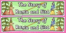The Story of Rama and Sita Display Banner