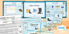 PlanIt - Computing Year 1 - Computer Skills Lesson 3: Folders and Save Lesson Pack