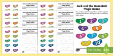 Jack and the Beanstalk Magic Bean Number Ordering 1-100