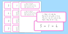 Number Sentences and Verse Cards 5 Lollipops