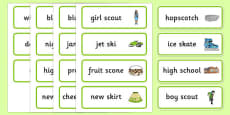 Word Medial SC SK Word Cards