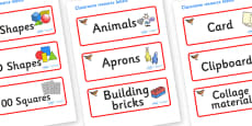 Chaffinch Themed Editable Classroom Resource Labels