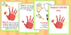 Handprint Little Red Hens Activity