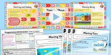 PlanIt - Computing Year 1 - Programming with ScratchJr Lesson 3: Time to Move Lesson Pack