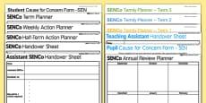 SENCo Key Documents Planning Pack