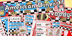 American Diner Role Play Pack