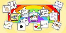 Editable Writing Target Cards Stars