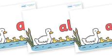 Foundation Stage 2 Keywords on Five Little Ducks