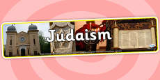 Judaism Photo Display Banner