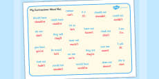 Contractions Word Mat