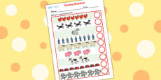 Counting Sheet to Support Teaching on What the Ladybird Heard