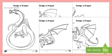 * NEW * St. George's Day Design a Dragon Activity Sheets