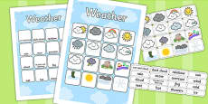 Weather Vocabulary Poster Mat