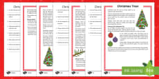 KS2 Christmas Trees Differentiated Reading Comprehension Activity