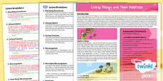 PlanIt - Science Year 6 - Living Things and Their Habitats Planning Overview CfE