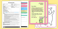 Three Little Pigs Paint Mixing EYFS Adult Input Plan and Resource Pack