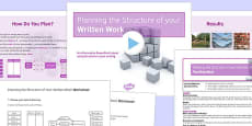 Planning the Structure of your Written Work Lesson Pack