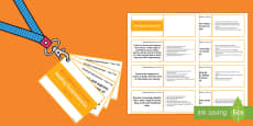 Lanyard Sized Year Two Reading Comprehension Objectives Cards