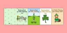 Irish Gaeilge Saint Patrick\'s Day Greeting Card Templates