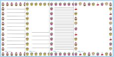 Cupcake Page Borders